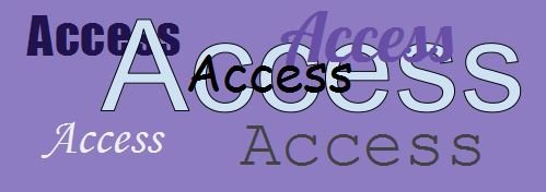 "Multiple layers of the word ""access"""